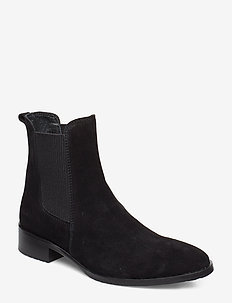 Booties - flat - with elastic - 1163/019 BLACK/BLACK