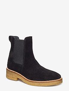Booties - flat - with elastic - 1163/019 BLACK/BLACK