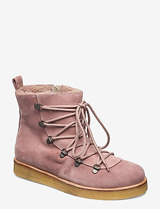 Boots - flat - with laces - talon bas - 2194/2019 powder/ beige lambwo