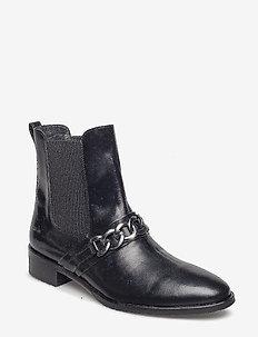Booties - flat - with elastic - 1400/019 BLACK/BLACK