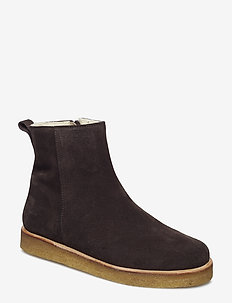 Boots - flat - with laces - 2193 DARK BROWN