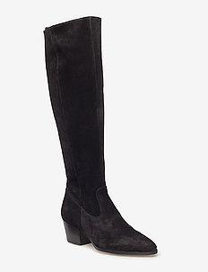 Bootie - block heel - with zippe - 1163 BLACK