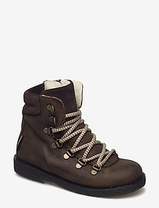 Boots - flat - with velcro - 1660/2193/1660 BROWN/B./B.