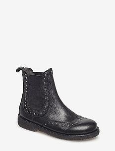 Booties - flat - with elastic - laarzen - 1933/019 black/black