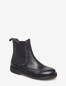 Booties - flat - with elastic - stiefel - 1933/019 black/black