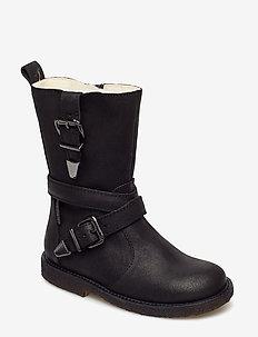 Boots - flat - with zipper - 2100/1604 BLACK/BLACK