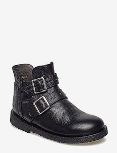 Boots - flat - zipper - 1933 BLACK