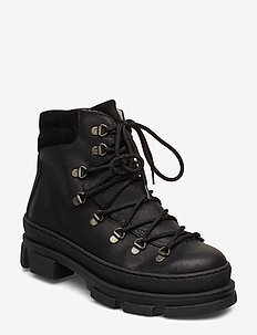 Boots - flat - platte enkellaarsjes - 2100/1163 black