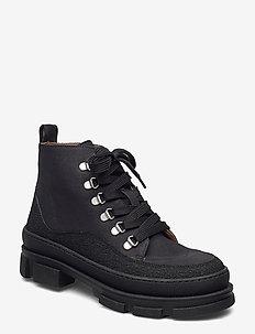 Boots - flat - platte enkellaarsjes - 1321/2666 black