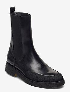 Booties - flat - with elastic - platte enkellaarsjes - 321/1835/001 black