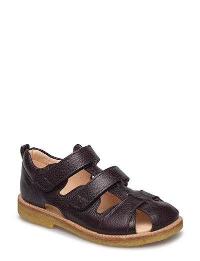 Sandal with velcro closure - 2505 DARK BROWN