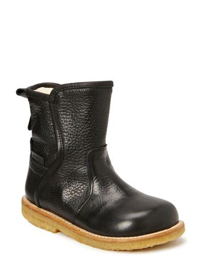 Boots - flat - zipper - 2504/1652 BLACK/BLACK