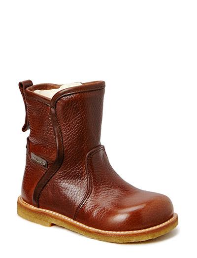 Boots - flat - zipper - 2509/1589 RED-BROWN