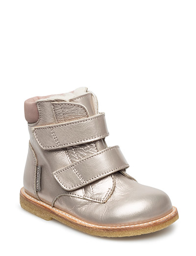 Boots - flat - with velcro - 2109/1227 LIGT COPPER/OLDROSE