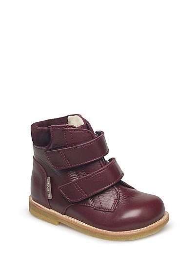 Boots - flat - with velcro - 2544/2195 BORDEAUX/BORD.