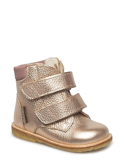 Boots - flat - with velcro - 1537/1227 LIGHT COPPER/ROSE