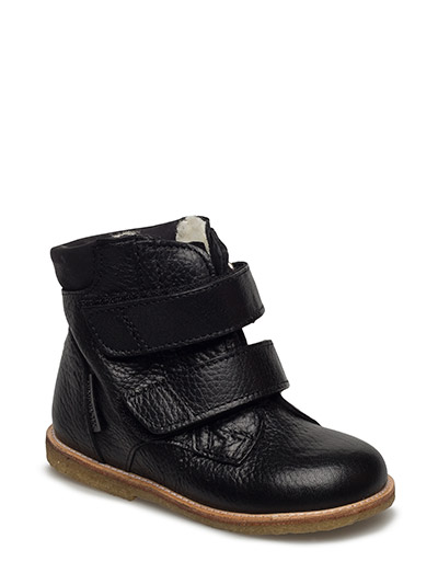 Boots - flat - with velcro - 2504/1652 BLACK/BLACK