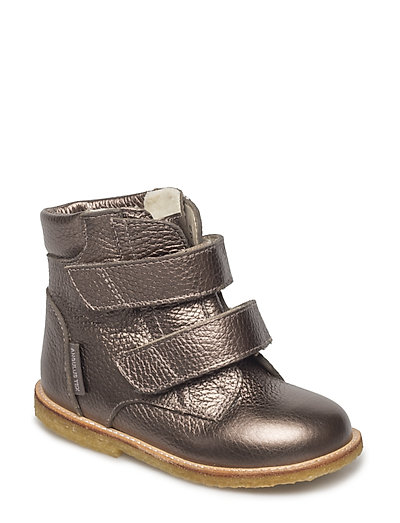 Boots - flat - with velcro - BRONZE