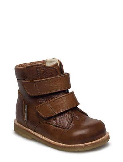 Boots - flat - with velcro - 2509/2509 MEDIUM BROWN/MEDIUM