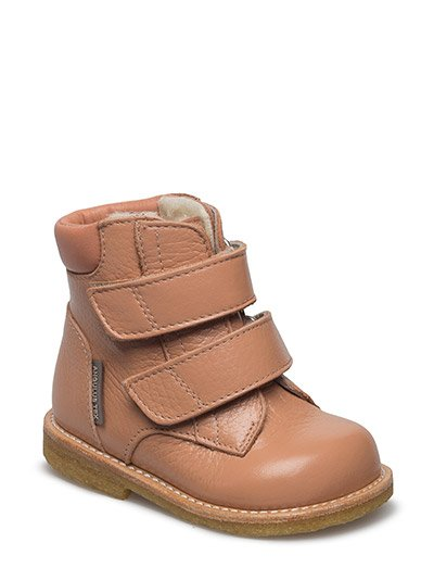Boots - flat - with velcro - 2552/1533 OLD ROSE/OLD PEACH