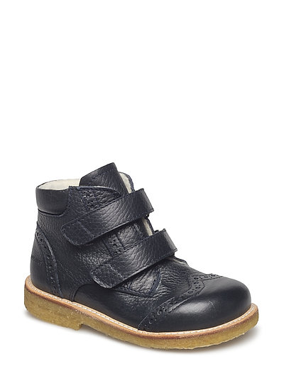 Boots - flat - with velcro - 1989 NAVY