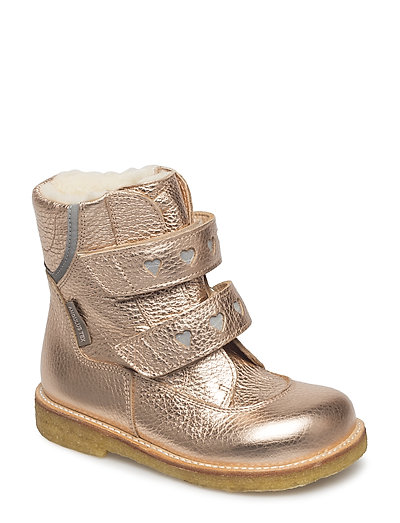 Boots - flat - with velcro - 1537/2012 ROSE COPPER