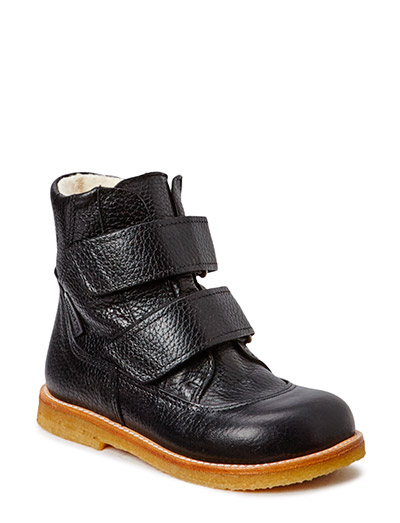 Boots - flat - with velcro - 2504/2504 BLACK/BLACK