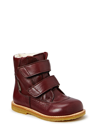 Boots - flat - with velcro - 2544/2544 BORDEAUX/BORDEAUX