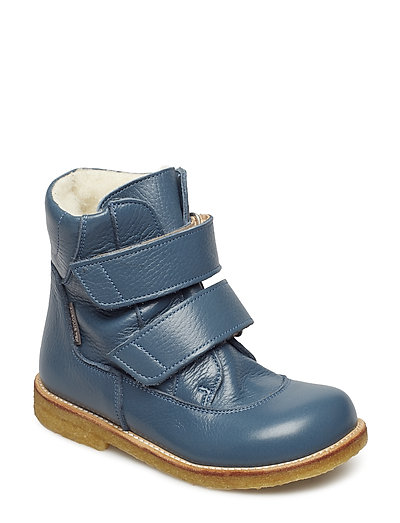 Boots - flat - with velcro - 2559 DENIM BLUE