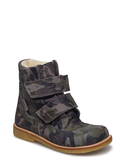 Boots - flat - with velcro - 2175 ARMY PRINT