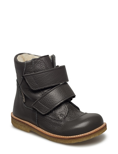 Boots - flat - with velcro - 2556 DARK GREY