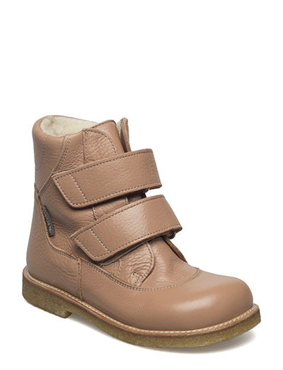 Boots - flat - with velcro - 2552 DUSTY ROSE