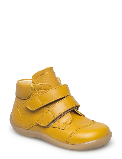 Boots - flat - with velcro - 1574 YELLOW