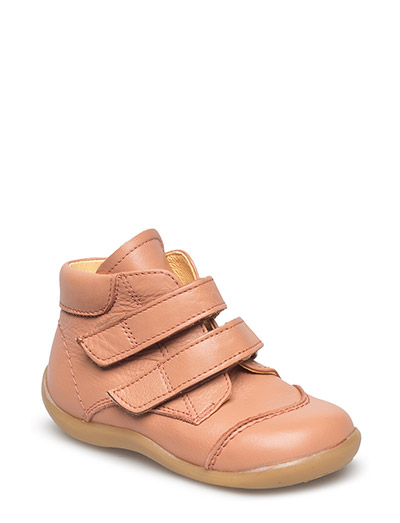 Shoes - flat - with velcro - 1533 DUSTY PEACH
