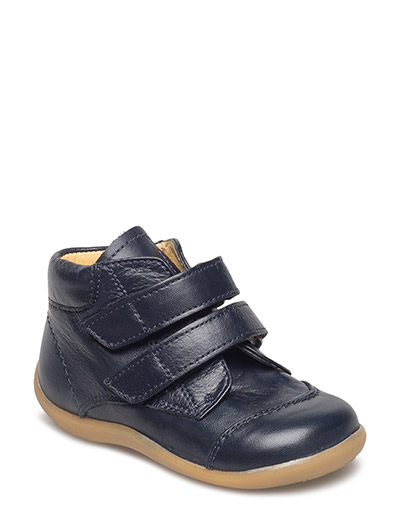 Boots - flat - with velcro - 1530 NAVY
