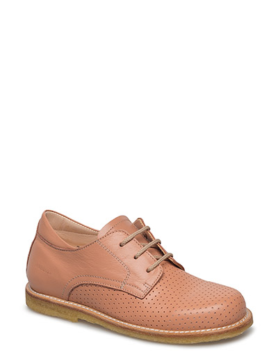 Shoes - flat - with lace - 1533 DUSTY PEACH