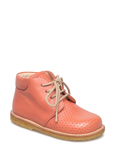 Boots - flat - with laces - 1436 LIGHT CORAL