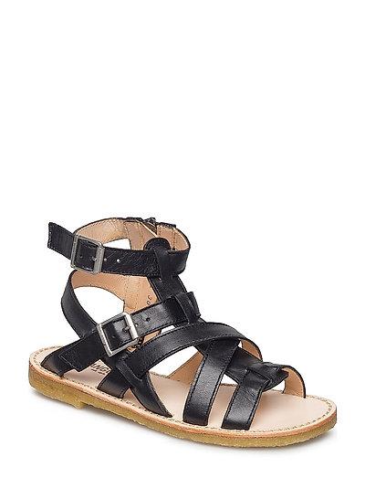 Sandal w. zipper - 1604 BLACK