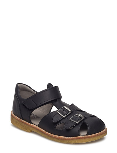Sandal with two buckles in front - 1652 BLACK