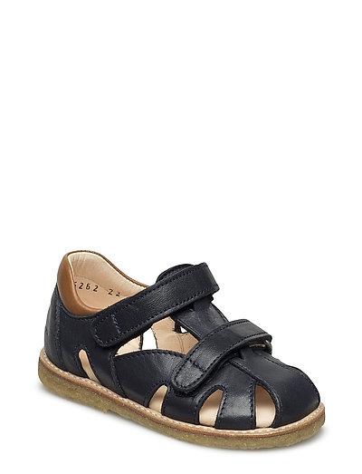 Sandals - flat - 1530/2415 BLUE/COGNAC