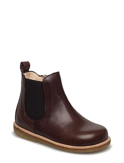 Booties - flat - with zipper - 1562/002 ANGULUS BROWN/ MEDIUM