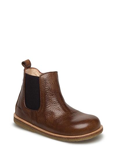Booties - flat - with zipper - 2509/002 MEDIUM BROWN/MEDIUM B