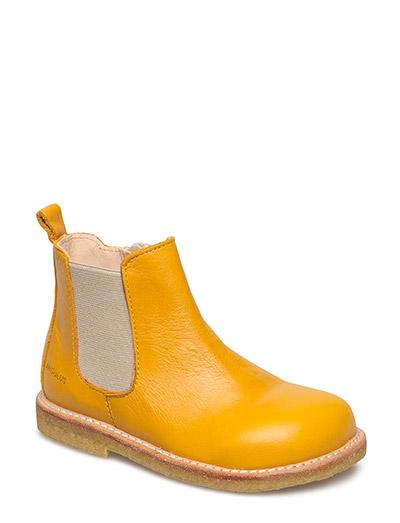 Booties - flat - with zipper - 1574/010 YELLOW/BEIGE