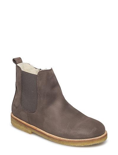 Boots - flat - zipper - 2613/023 GREYBROWN/GREY