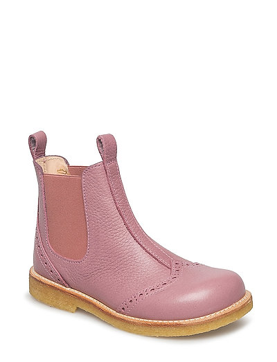 Booties - flat - with elastic - 2560/022 L.PLUM/ROSE