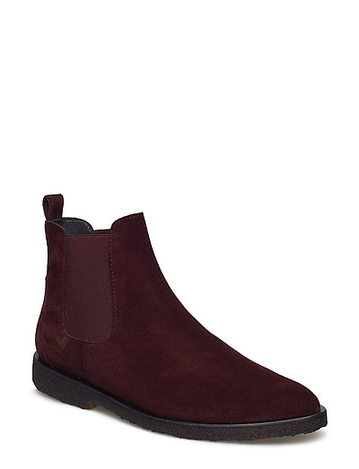 Booties - flat - with elastic - 2195/031 BORDEAUX