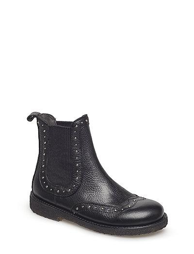 Shoes - flat - with elastic - 1933/019 BLACK/BLACK