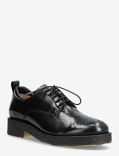 Shoes - flat - with lace - snøresko - 1835 black