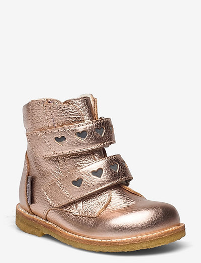 Boots - flat - with velcro - begyndersko - 1537/2012 rose copper