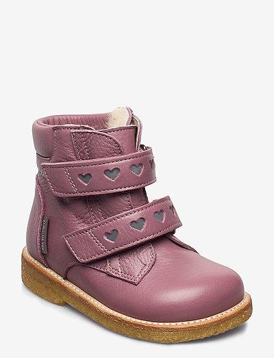 Boots - flat - with velcro - begyndersko - 2560/2012 plum/reflex